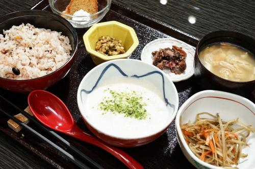 和定食(山芋・油みそ)